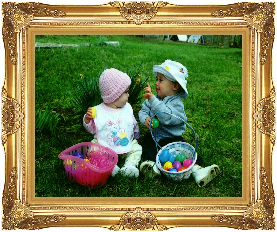 Ray Porter Our First Easter with Majestic Gold Frame