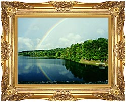 Ray Porter Rainbow canvas with Majestic Gold frame