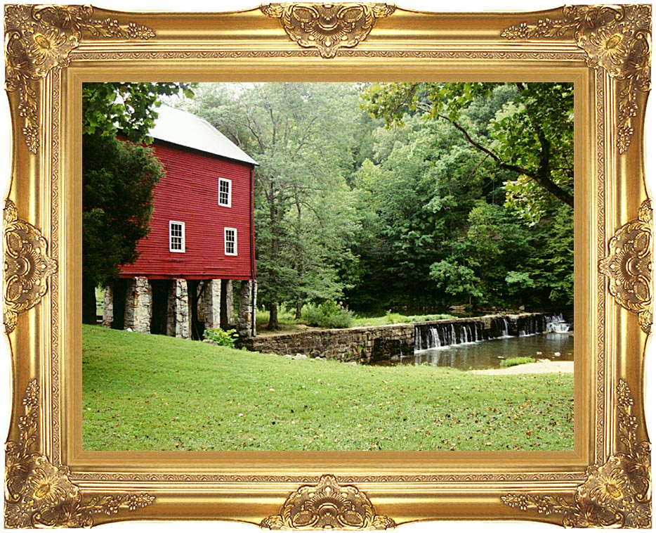 Ray Porter The Ole Mill Stream with Majestic Gold Frame