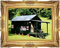 Ray Porter Country Store canvas with Majestic Gold frame