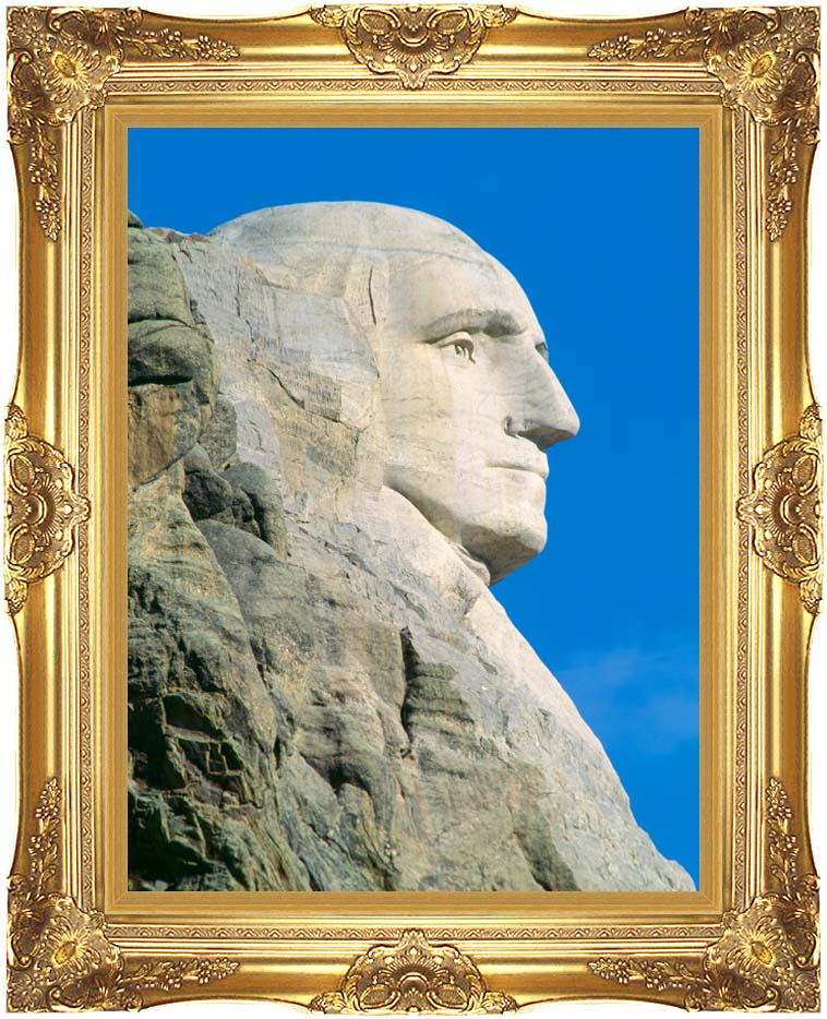 Visions of America George Washington on Mount Rushmore with Majestic Gold Frame