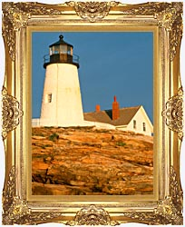 Visions of America Pemaquid Lighthouse Maine canvas with Majestic Gold frame
