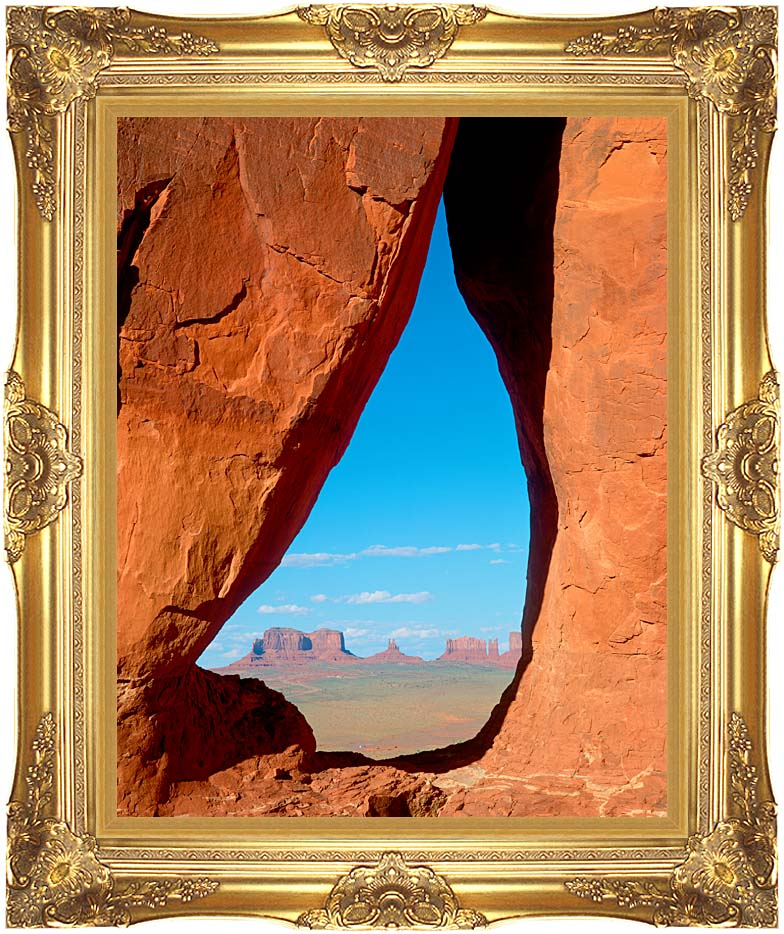 Visions of America Keyhole View at Monument Valley, Arizona with Majestic Gold Frame