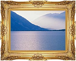 Visions of America Aspen And Rocky Mountains From Lake Colorado canvas with Majestic Gold frame