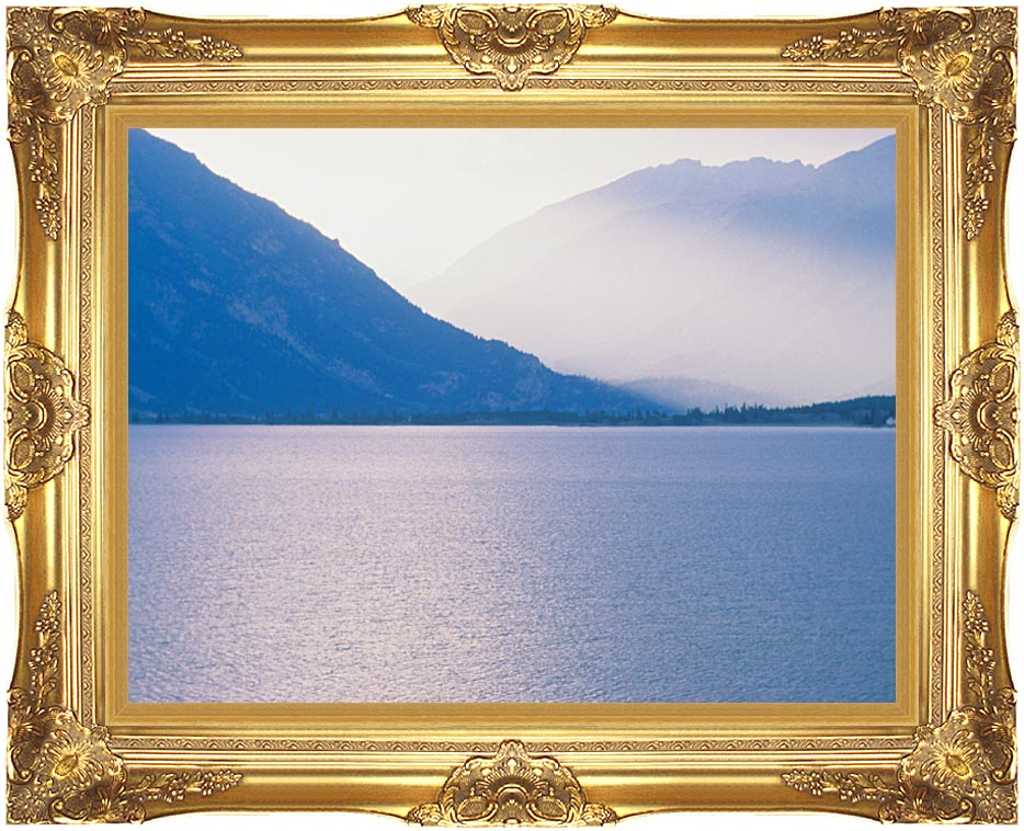 Visions of America Aspen and Rocky Mountains from Lake, Colorado with Majestic Gold Frame