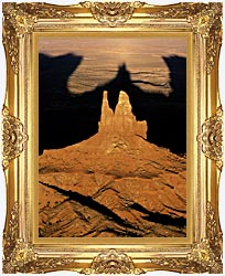 Visions of America The Navajo Tribal Park At Sunset canvas with Majestic Gold frame