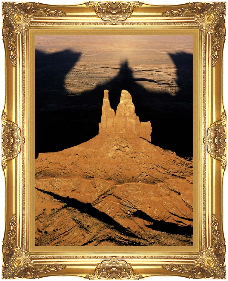Visions of America The Navajo Tribal Park at Sunset with Majestic Gold Frame