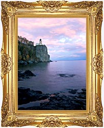 Visions of America Split Rock Lighthouse On Lake Superior canvas with Majestic Gold frame