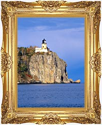 Visions of America Split Rock Lighthouse Minnesota canvas with Majestic Gold frame