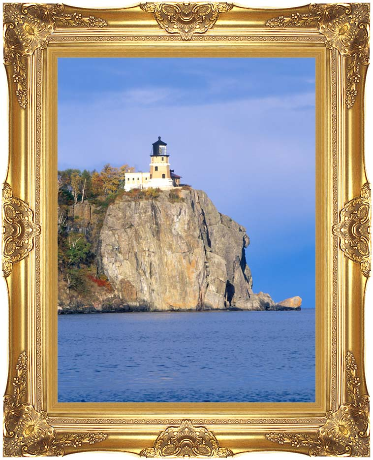 Visions of America Split Rock Lighthouse Minnesota with Majestic Gold Frame