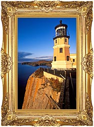 Visions of America Split Rock Lighthouse State Park Minnesota canvas with Majestic Gold frame