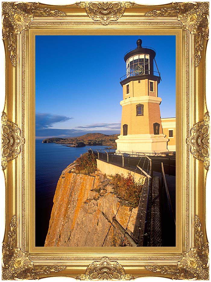 Visions of America Split Rock Lighthouse State Park, Minnesota with Majestic Gold Frame