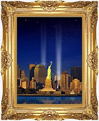 Visions of America World Trade Center Light Memorial canvas with Majestic Gold frame