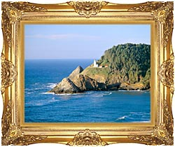 Visions of America Heceta Lighthouse Oregon canvas with Majestic Gold frame