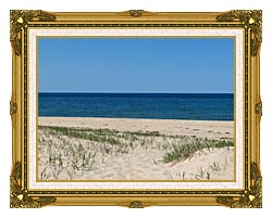 Brandie Newmon Race Point Beach Provincetown Massachusetts canvas with museum ornate gold frame