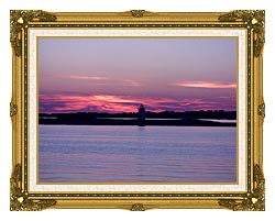 Brandie Newmon Provincetown Lighthouse At Dusk Massachusetts canvas with museum ornate gold frame