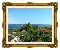 Brandie Newmon Marginal Way Overlook canvas with museum ornate gold frame