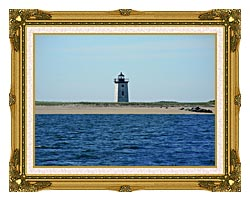 Brandie Newmon Wood End Lighthouse Provincetown Massachusetts canvas with museum ornate gold frame