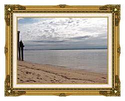 Brandie Newmon Sandy Beach In Provincetown MA canvas with museum ornate gold frame