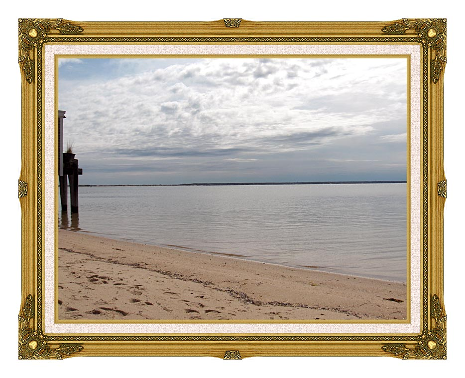 Brandie Newmon Sandy Beach in Provincetown, MA with Museum Ornate Frame w/Liner