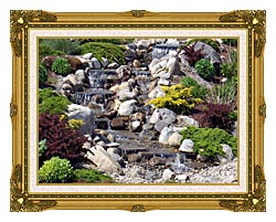 Brandie Newmon Waterfall In Ogunquit Maine canvas with museum ornate gold frame