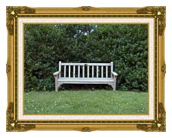 Brandie Newmon Scenic Park Bench canvas with museum ornate gold frame