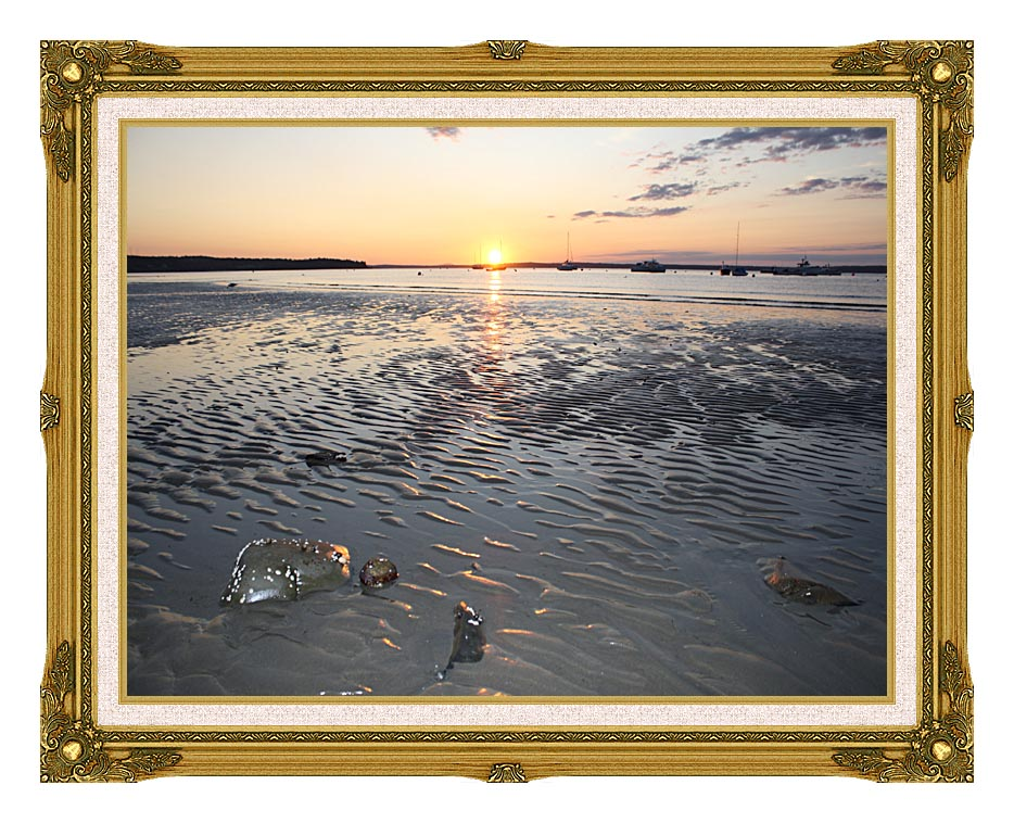 Kim O'Leary Photography Rising Star Sunrise, Maine with Museum Ornate Frame w/Liner