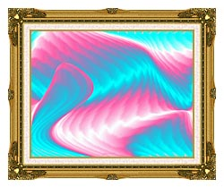 Lora Ashley Miami Surf canvas with museum ornate gold frame