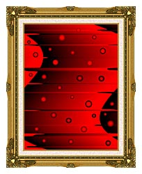 Lora Ashley Balance Red And Black canvas with museum ornate gold frame