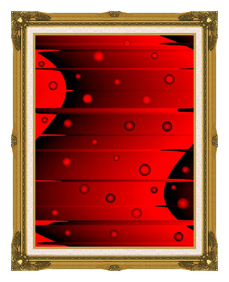 Lora Ashley Balance (Red and Black) with Museum Ornate Frame w/Liner