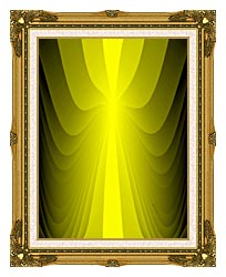 Lora Ashley Lemon Slide canvas with museum ornate gold frame