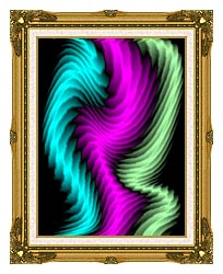 Lora Ashley Dancing Rays canvas with museum ornate gold frame