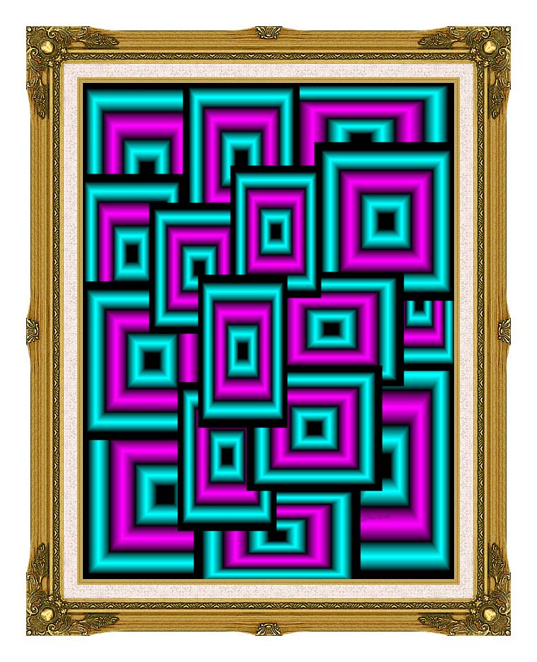 Lora Ashley Data Overload with Museum Ornate Frame w/Liner