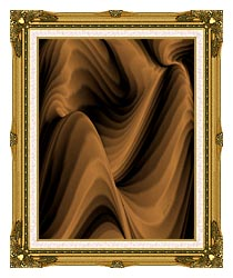 Lora Ashley Chocolate River canvas with museum ornate gold frame