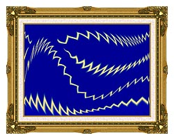 Lora Ashley Lightning canvas with museum ornate gold frame