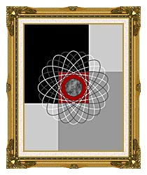 Lora Ashley Nucleus canvas with museum ornate gold frame