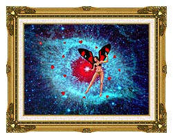 Lora Ashley Fairy Of Hearts canvas with museum ornate gold frame