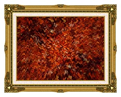 Lora Ashley Autumn Abstract Tapestry canvas with museum ornate gold frame