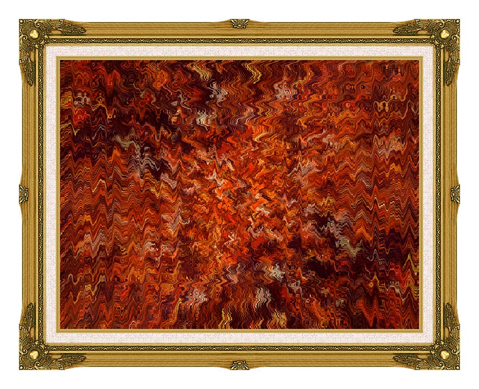Lora Ashley Autumn Abstract Tapestry with Museum Ornate Frame w/Liner
