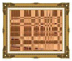 Lora Ashley Contemporary Tan Tapestry canvas with museum ornate gold frame