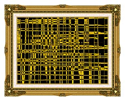 Lora Ashley Contemporary Yellow Abstract canvas with museum ornate gold frame