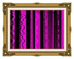Lora Ashley Contemporary Magenta Abstract canvas with museum ornate gold frame