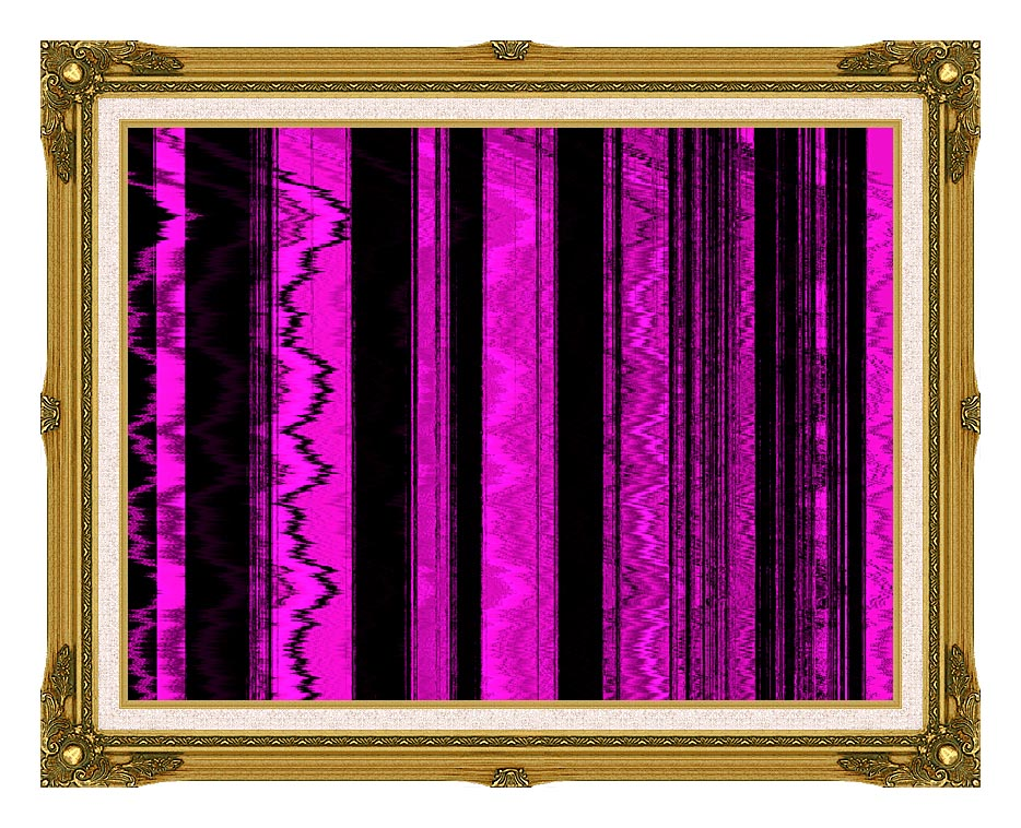 Lora Ashley Contemporary Magenta Abstract with Museum Ornate Frame w/Liner