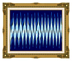 Lora Ashley High Voltage Abstract canvas with museum ornate gold frame