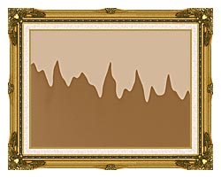 Lora Ashley Modern Chocolate canvas with museum ornate gold frame
