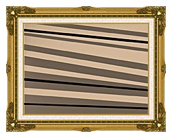 Lora Ashley Contemporary Black And Tan canvas with museum ornate gold frame