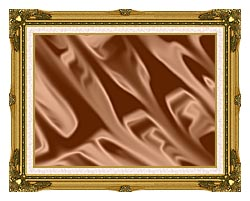 Lora Ashley Chocolate canvas with museum ornate gold frame