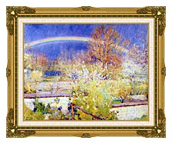 William Blair Bruce The Rainbow canvas with museum ornate gold frame