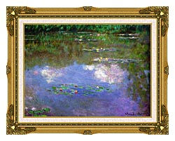 Claude Monet The Cloud canvas with museum ornate gold frame