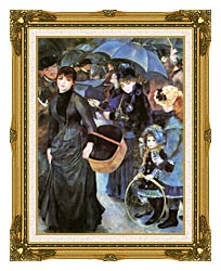 Pierre Auguste Renoir The Umbrellas canvas with museum ornate gold frame
